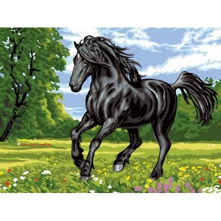 Картина по номерам Черный конь VK121, Babylon