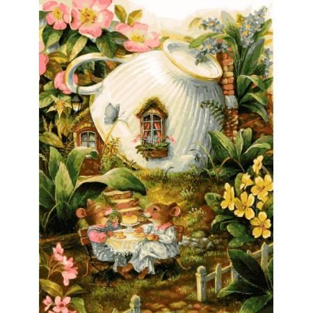 Картина по номерам «Мышиный домик», модель VK140