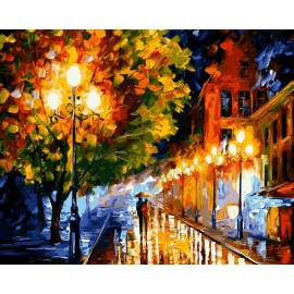 Прогулка вечерними улочками, Афремов