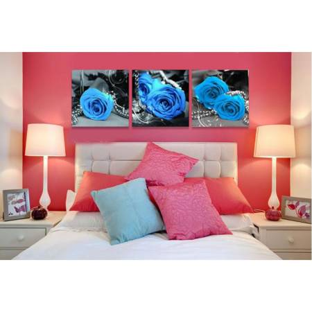 Картина по номерам Голубые розы MT3073,