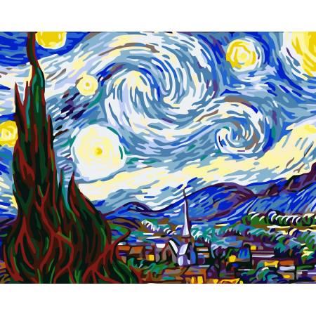 Картина по номерам Звездная ночь ms233, Babylon