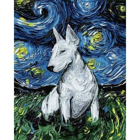 Картина по номерам Звездный бультерьер Q2193, Mariposa