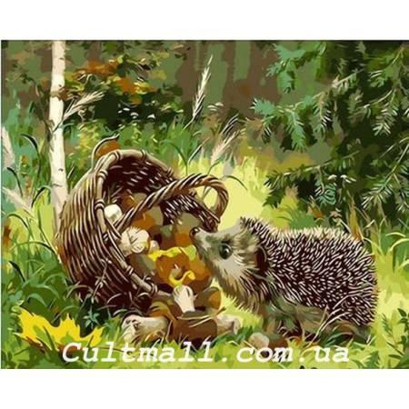 Картина по номерам Любопытный ежик Q019, Mariposa