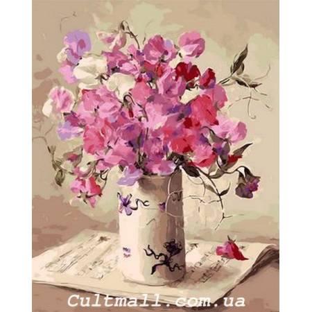 Картина по номерам «Музыка цветов», модель Q1062