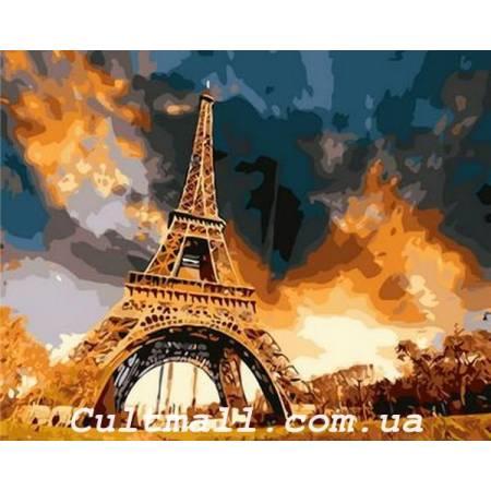 Картина по номерам Закат над Парижем Q1224, Mariposa