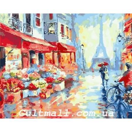 Картина по номерам «Весенний дождь в Париже», модель Q1228