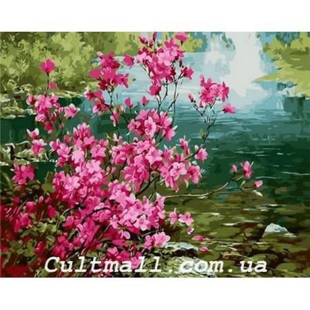Картина по номерам Куст миндаля Q1276, Mariposa