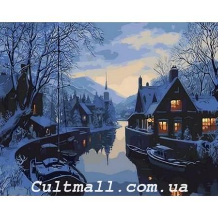 Картина по номерам Зима в рыбацкой деревне Q1308, Mariposa