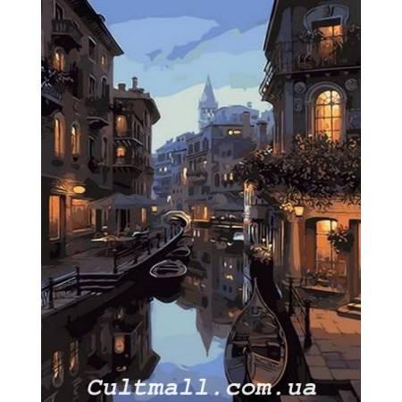 Картина по номерам «Ночные каналы Венеции», модель Q1311