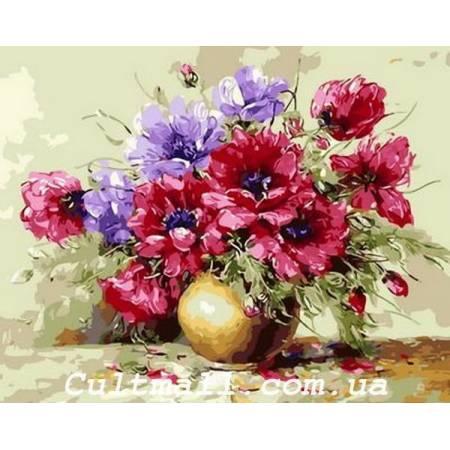 Картина по номерам Яркий букет Q1362, Mariposa
