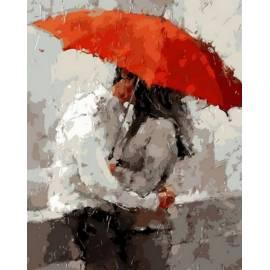 Под красным зонтом