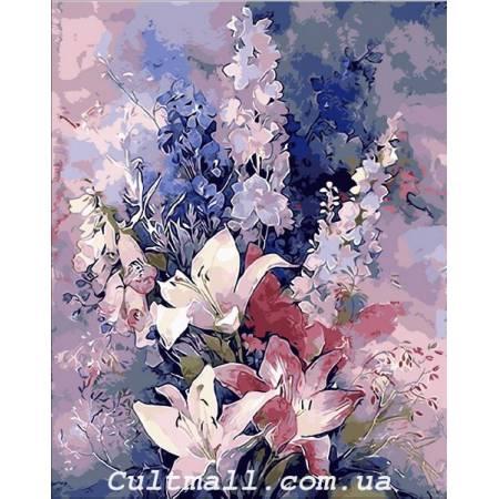 Картина по номерам Букет с розовыми лилиями Q1445, Mariposa