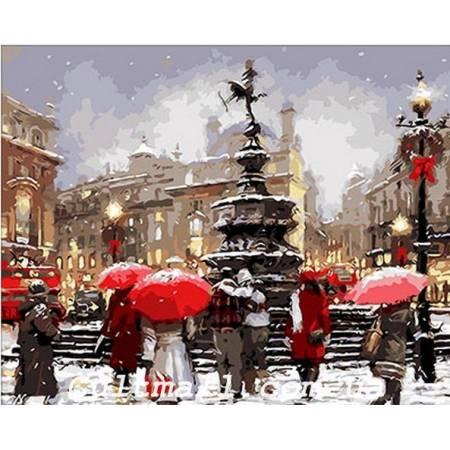 Картина по номерам «В ожидании Рождества», модель Q200