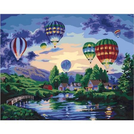 Воздушные шары в сумерках