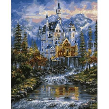 Картина по номерам Замок Нойшванштайн Q2100, Mariposa