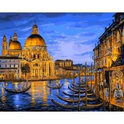 Причал ночной Венеции