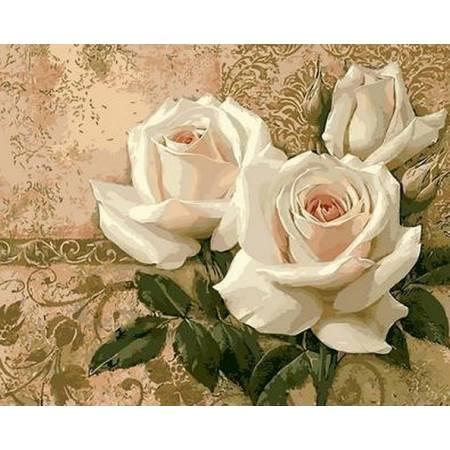 Картина по номерам Кремовые розы Q416, Mariposa