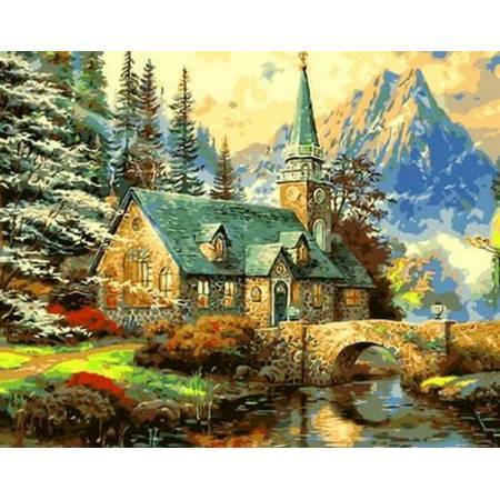 Картина по номерам «Альпийский пейзаж», модель Q497