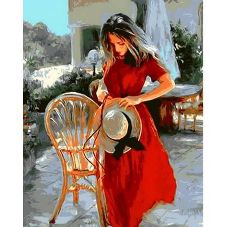 Картина по номерам «Красная лента», модель Q556