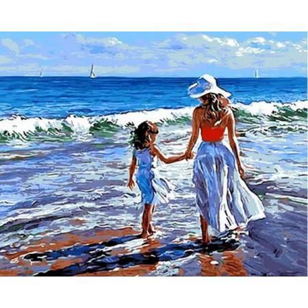Картина по номерам «Прогулка с мамой Худ Волегов Владимир », модель Q723