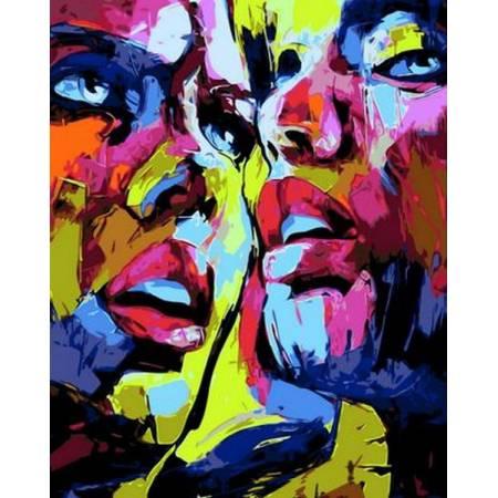 Картина по номерам «Девушки поп - арт», модель Q795