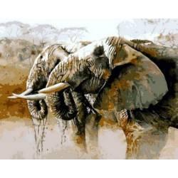 Слоны на водопое