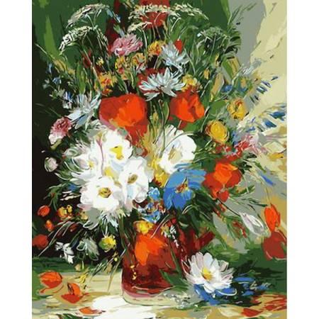 Картина по номерам Яркий летний букет Q862, Mariposa