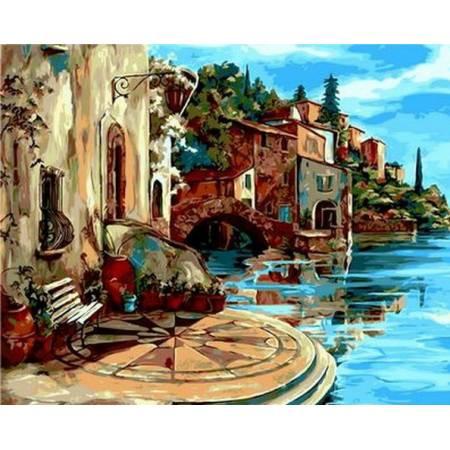 Картина по номерам Уютная терасса Q887, Mariposa