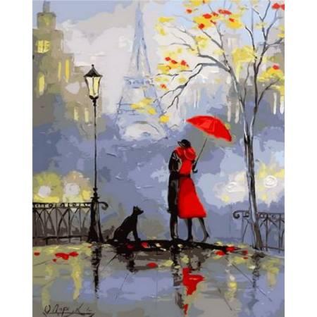 Картина по номерам Романтика Парижа Q899, Mariposa