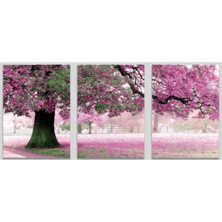 Картина по номерам «Весенний цветТриптих», модель MS14028