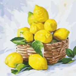 Лимоны в корзине