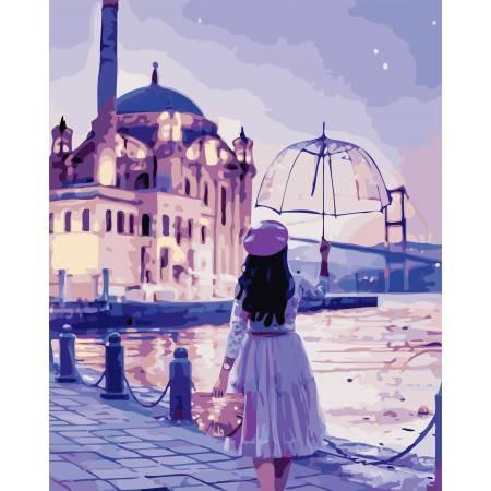 Картина по номерам Романтическая девушка AS0755, ArtStory