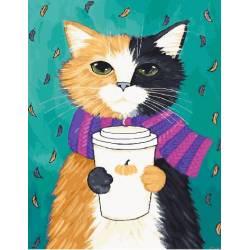 Котик в шарфе