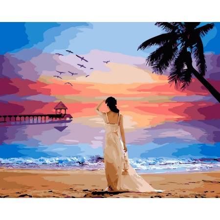 Картина по номерам Тропический рассвет GX29454, Rainbow Art