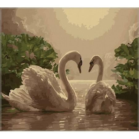 Картина по номерам Любовь (Лебеди) MS325, Babylon