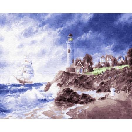 Картина по номерам Маяк на острове GX22601, Rainbow Art