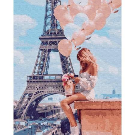Картина по номерам Романтика в Париже GX26714, Rainbow Art