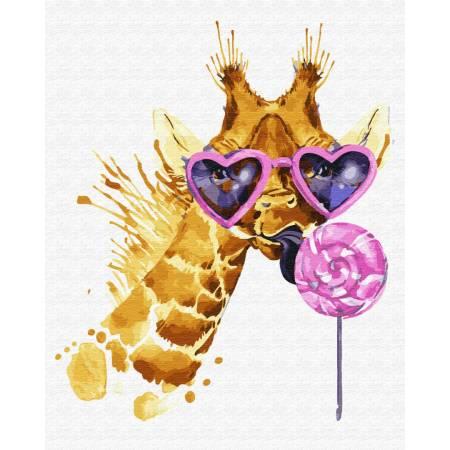 Картина по номерам Жираф сладкоежка  GX28725, Rainbow Art