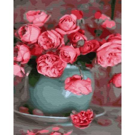 Картина по номерам Чайные розы GX34838, Rainbow Art