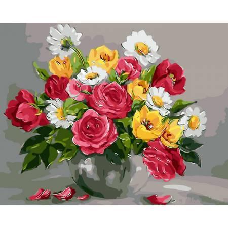 Картина по номерам Весенние цветы GX9445, Rainbow Art