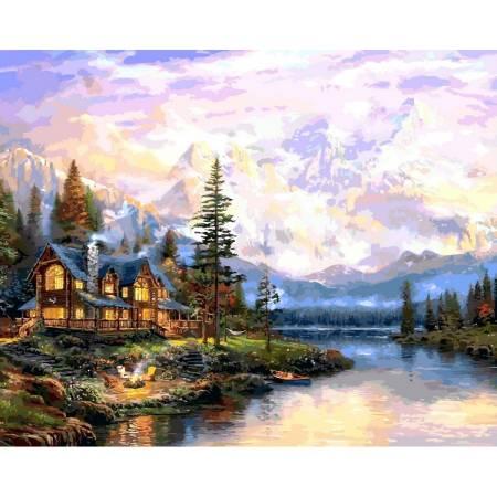 Картина по номерам дом у горного озера VP1113, Babylon