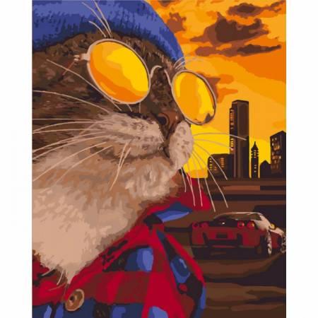 Картина по номерам Дерзкий кот KHO4127, Rainbow Art
