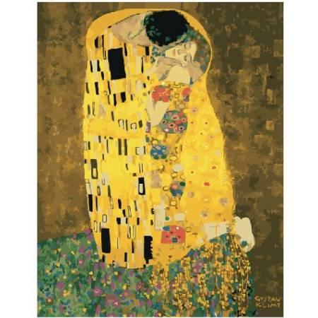 Картина по номерам Поцелуй. Климт GX21783, Rainbow Art