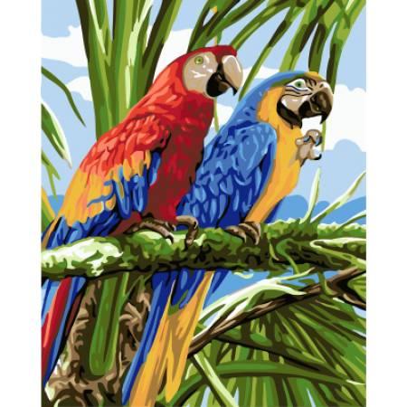 Картина по номерам Попугай Ара GX22339, Rainbow Art