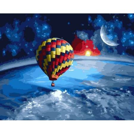 Картина по номерам Вокруг земли на воздушном зале GX22551, Rainbow Art