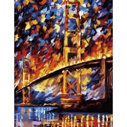 Мост в лучах заката