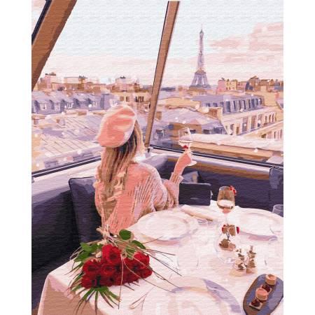 Картина по номерам Девушка на телебашне в Париже GX29245, Rainbow Art