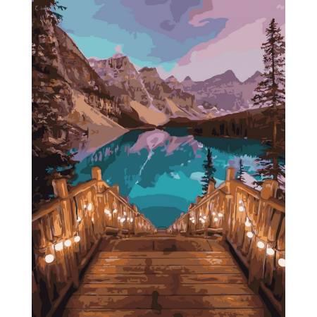 Картина по номерам Ступени к озеру GX32030, Rainbow Art