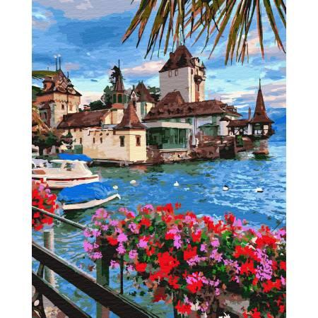 Картина по номерам Городок в Швейцарии GX32303, Rainbow Art