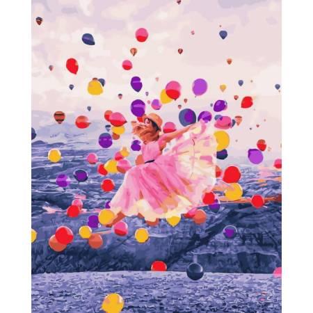 Картина по номерам Среди воздушных шаров GX31988, Rainbow Art